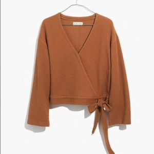 Madewell textured wrap top
